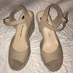 Dolce Vita nude suede wedges 8.5